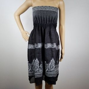 Lapis | convertable black and grey tube dress D15